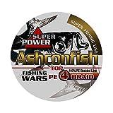 Ashconfish PEライン 4編 釣り糸 (0.4号 0.6号 0.8号 1号 1.2号 1.5号 2号 2.5号 3号 3.5号 4号 5号 6号 7号 8号 9号 10号) (150m 200m 300m 500m 1000m) X4 超強力 高感度 耐磨耗 低伸度 釣りライン 釣糸
