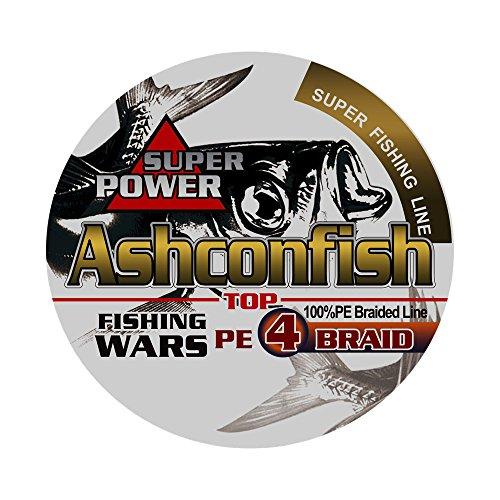 Ashconfish PEライン 4編 釣り糸 (0.4号 0.6号 0.8号 1号 1.2号 1.5号 2号 2.5号 3号 3.5号 4号 5号 6号 7号 8号 9号 10号) (150m 200m 300m 1000m) X4 超強力 高感度 耐磨