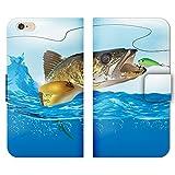 Galaxy S9 SCV38 ケース 手帳型 ストラップホール付 魚 釣り フィッシング ルアー さかな バス つり L006601_04