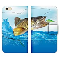 ZenFone 4 Pro ZS551KL ケース 手帳型 ストラップホール付 魚 釣り フィッシング ルアー さかな バス つり R006601_04