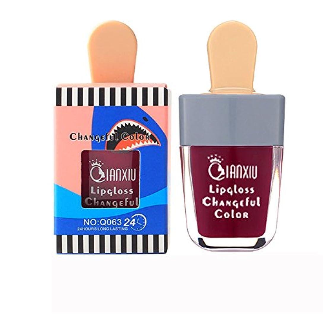 純正影響する検出する液体口紅 アイスクリーム メイク リップスティック リキッド カワイイ とろけるような付け心地美人発色上質ルージュhuajuanF