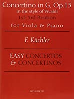 Concertino in G Op. 15: Viola and Piano