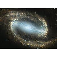絵画風 壁紙ポスター (はがせるシール式) 銀河 ギャラクシー Milky Way Blue 宇宙 天体 神秘 パワー キャラクロ SPC-011A1 (A1版 830mm×585mm) 建築用壁紙+耐候性塗料