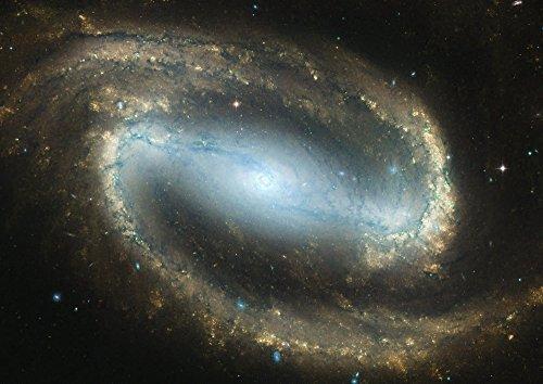 絵画風 壁紙ポスター (はがせるシール式) 銀河 ギャラクシー Milky Way Blue 宇宙 天体 神秘 パワー キャラクロ SPC-011A2 (A2版 594mm×420mm) 建築用壁紙+耐候性塗料