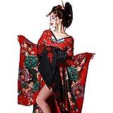 ヴァニティミィ 花魁 コスチューム 紅色花魁 赤 和柄 本格和装 着物ドレス 花魁ドレス vcsot-170331-1 Sサイズ レッド