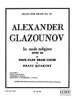 Alexander Glazunov: In Modo Religoso Op.38 (Brass Quartet) (Score/Parts). For ブラス・アンサンブル