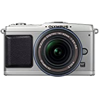 Olympus PEN E-P1 12 MP Micro Four Thirds Interchangeable Lens Digital Camera with 14-42mm f/3.5-5.6 Zuiko Digital Zoom Lens (Silver Body/Black Lens) by Olympus