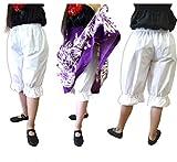 フラダンス アンダーパンツ ホワイト 子供~大人 大きいサイズあり 日本製 綿ポリでしわ知らず フラ衣装 フォークダンスにも/大人フリー(M~LL)