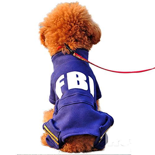 444d9e8bf58a6  Momugs Akira 犬服 パーカー ドッグウェア 秋 冬 春 FBI衣装 パーティ 四つの足 暖かい コットン コスチューム 2つのポケット  大型犬用 中型犬用 小型犬用 .