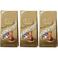 リンツ リンドール アソート チョコレート 600グラム ダーク,ヘーゼルナッツ,ミルク,ホワイトの4種類アソート Lindt LINDOR ASSORTED CHOCOLATE 600g DARK,WHITE,HAZELNUT,MILK (3個セット) [並行輸入品]
