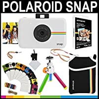Polaroid Snap Instant Camera (White) + 2x3 Zink Paper (20 Pack) + Neoprene Pouch + Photo Frames + Accessory Bundle [並行輸入品]
