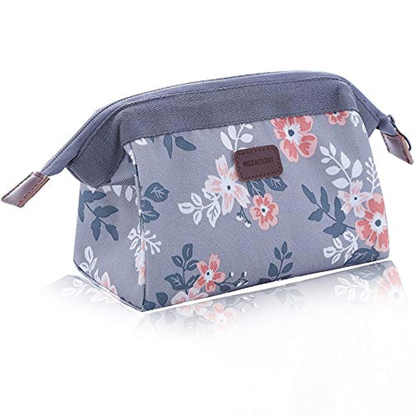 成熟したたまに母性化粧ポーチ コスメバッグ  コスメポーチ メイクポーチ 機能的 大容量 化粧品収納 小物入れ 普段使い 出張 旅行 メイクバッグ 化粧バッグ(グレー)