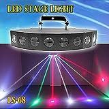 LEDステージライト スポットライト LS-68 パーライト PARライト LEDボーダーライト DMX対応モデル/ ステージライト / ディスコ / 舞台 / 演出 / 照明 / ボールエフェクト