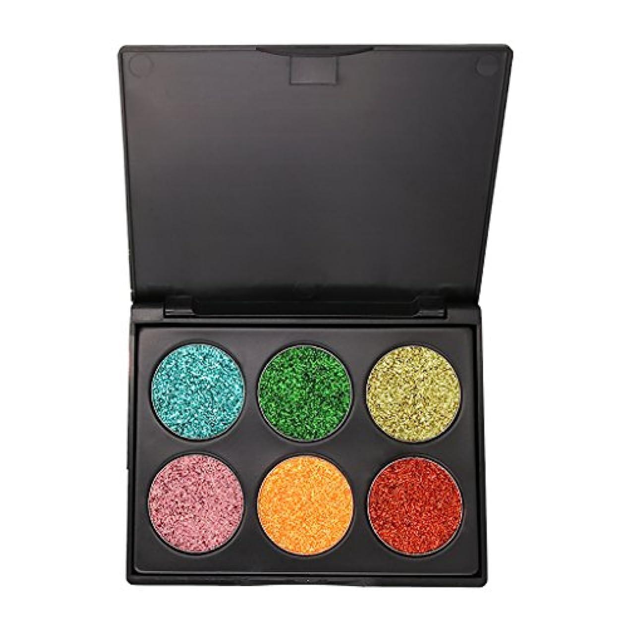 チューインガムバラ色しなければならないアイシャドウ パレット シマー 6色 キラキラ アイシャドー 化粧パレット 全3種類 - #C