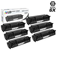 LD Compatible Replacements for HP 305A / CE410A Set of 6 Black Toner Cartridges for HP LaserJet Pro 300 Color MFP M375nw 400 Color M451dn M451dw M451nw M475dn & M475dw [並行輸入品]