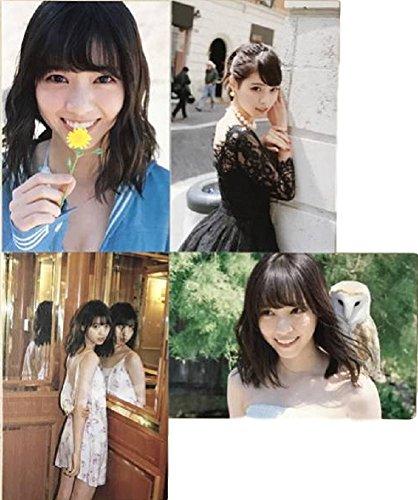 乃木坂46 西野七瀬 風を着替えて 写真集 ポストカード4枚 -