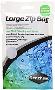 Seachem Large-Mesh Filter Bag with Zipper, White
