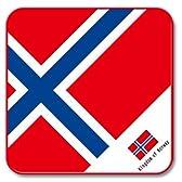 世界の国旗 ハンドミニタオル J(ノルウェー)