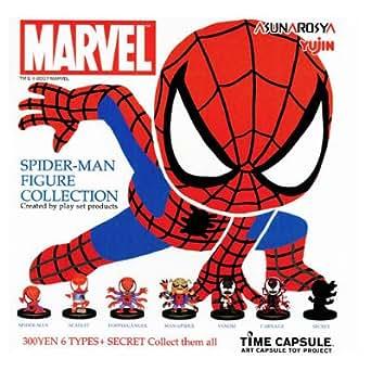 タイムカプセル スパイダーマン フィギュアコレクション ガチャ ノーマル6種セット