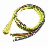 伊賀くみひも 振袖用 帯締め(鶸色・ひわ色) 伝統的工芸品 日本製 正絹