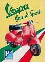 Vesspa–Grand Sport Vintageポスターイタリア 12 x 18 Art Print LANT-59728-12x18