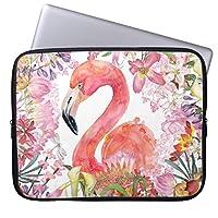 Recaso(レカソ)花 ジャングル-夏パターン フラミンゴ ラップトップスリーブ 7インチ タブレット インナーケース 7/8 インチ iPad mini2 mini3 mini4 スリーブ ケース 撥水 ネオプレーン インナー バッグ 保護 ソフト カバー