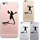 iPhone6 iPhone6S 対応 ハード クリア ケース 保護フィルム付 テニス スマッシュ
