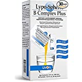 Lypo-Spheric B Complex Plus – 30 Packets – 195 mg B Vitamins, Minerals & Cinnamon Per Packet – Liposome Encapsulated for Maxi