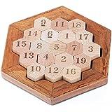 Gobus木製ヘキサゴンパズルナンバーパズルキューブデジタルゲーム頭の体操パズルおもちゃ子供のための十代の若者たち大人