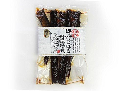 ほっけごぼう甘露煮(200g)北海道産の(ホッケ)と(ゴボウ)を骨まで柔らかく炊き上げました。(佃煮)(牛蒡)