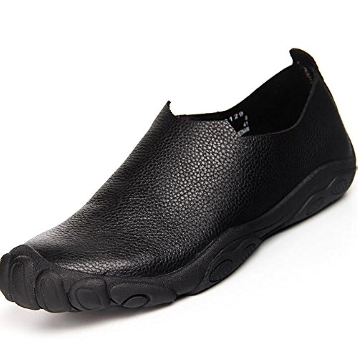 ぼろ終わった学習者新しい男性の靴の手作りの靴メンズカジュアルシューズファッション快適な靴の男性のシンプルさ,Black,44