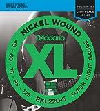 D'Addario ダダリオ ベース弦 ニッケル Long Scale 5弦 .040-.125 EXL220-5 【国内正規品】