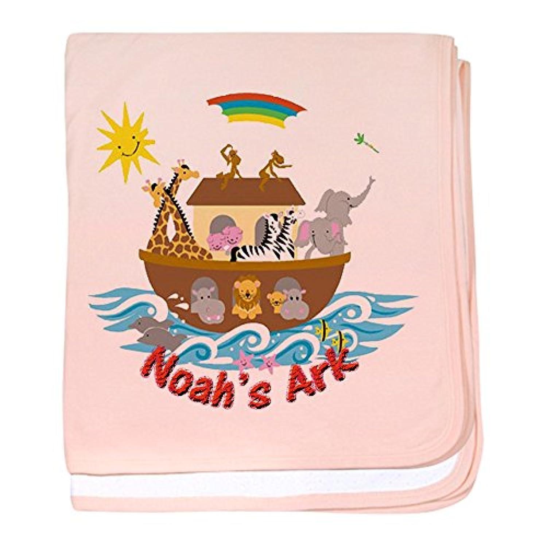 CafePress – Noah 's Ark – スーパーソフトベビー毛布、新生児おくるみ ピンク 05548616356832E