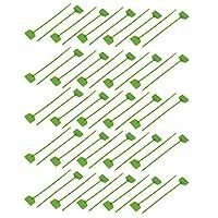 uxcell ケーブルタイ ストラップジップ 結束バンド グリーン プラスチック 長さ160mm 21x27mm 自己ロック 50個入り