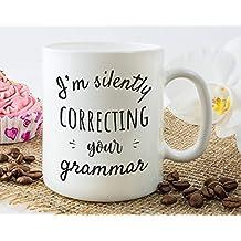 Mug Warmer Grammar Coffee Mug For Gift Coffee Mug Or Tea Cup White 11 OZ