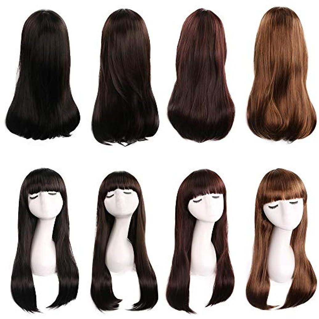 カウントアップ増強する眠り前髪26インチリンカヘアカット人工毛交換ウィッグハロウィンコスプレ衣装アニメパーティーウィッグ(ウィッグキャップ付き) (Color : Dark brown)