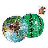 変わり紙風船 すいかと地球儀のセット / お楽しみグッズ(紙風船)付きセット [おもちゃ&ホビー]