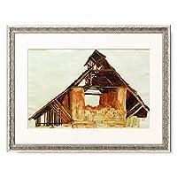 エゴン・シーレ Egon Schiele 「Alter Giebel, 1913.」 額装アート作品