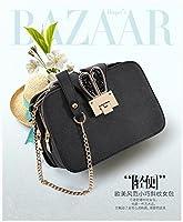 RBBB 斜め掛けの女子学生の小包の学生の単体の肩包春夏秋冬の新金のファッションの潮流の百組の簡単なチェーンのバッグ,黒