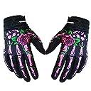 Saflyse バイク用品 オートバイ 手袋 バイクグローブ メンズ レディース クールなデザイン モトクロスク ライミング サイクリング適用 (ピンク, M)