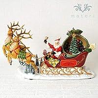 サンタスレッジツリーターンオルゴール クリスマス置物
