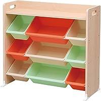 アイリスオーヤマ(IRIS) おもちゃ箱 キャロット 幅86.3×奥行34.8×高さ79.5cm 天板付キッズトイハウスラック TKTHR-39