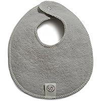 Organic Wool Teething Bib, Soft Grey, 6-12 months by LANACare