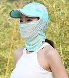 フェイスマスク付 キャップ 紫外線 対策 フェイスカバー 日よけ 帽子 アウトドア スポーツ ゴルフ UV 日焼け 防止