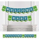 Bigドットの幸せのHAPPY CAMPERキャンプ – ベビーシャワーホオジロバナー – パーティーデコレーション – Welcome Baby