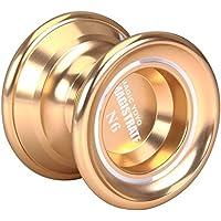 MAGIC YOYO N6アルミ合金の金属プロフェッショナルヨーヨー、1手袋、5弦付き、ゴールド