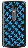 SECOND SKIN スター TYPE2 ブラック×ブルー (クリア) / for Moto X Play XT1562/MVNOスマホ(SIMフリー端末) MMRXPY-PCCL-201-Y129 MMRXPY-PCCL-201-Y129