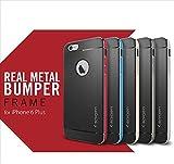 iPhone6 Plus 5.5インチ ネオハイブリッドメタル iPhone6 Plus 5.5インチケース iphone6 Plus 5.5インチカバー : satin-silver