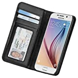 【ハンドクラフト 本革レザー】 Case-Mate 日本正規品 docomo Galaxy S6 SC-05G Wallet Folio Case, Black ウォレット フォリオ ケース 【複数のカードや紙幣が収納できる】 手帳型 ブックタイプ ケース, ブラック CM032333