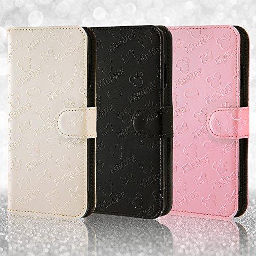 レイ・アウト iPhone7ケース ディズニー 手帳型 ケース(マグネット /スタンド機能 /ICカード /ストラップホール) エナメル/ピンク RT-DP12B/P